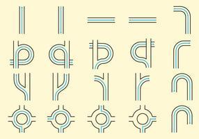 Straßenlinie Icons