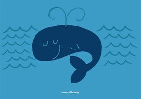 Whale vector character