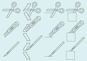 Skärande ikoner vektor