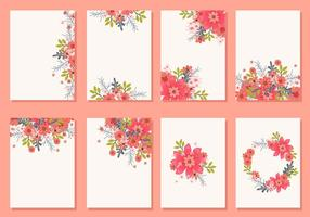 Blom- bröllopsinbjudningskort vektorer