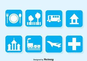 Kartenlegende Blaue Icons