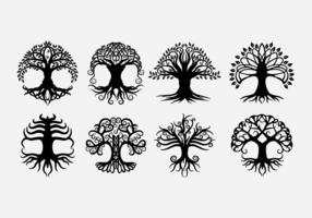 Keltiska trädvektorer vektor