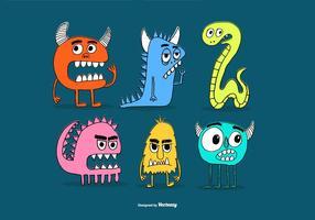 Gezogene Monster-Freund-Vektoren