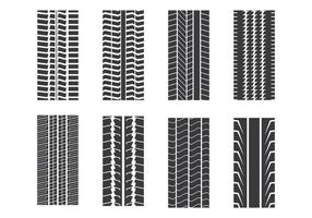 Reifenmarkensatz vektor