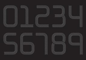 Reifenmarkennummern vektor