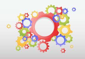 Gears Bakgrundsvektor vektor