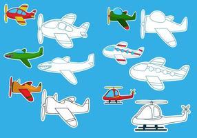 Färgläggning av flygplanvektorerna vektor