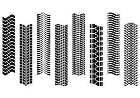 Sammlung von Reifen Traktor Vektor