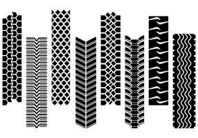 Set av traktordäckvektor