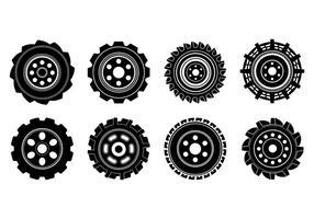Freier Traktor-Reifen-Vektor