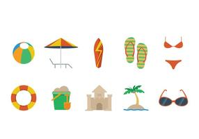 Gratis Beach Theme Vector