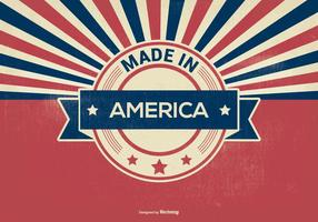 Retro Stil Made In America Illustration vektor