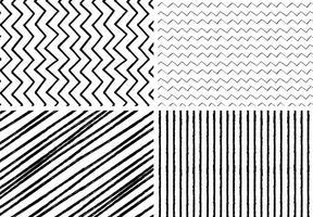 Handdragen stil sömlösa mönster