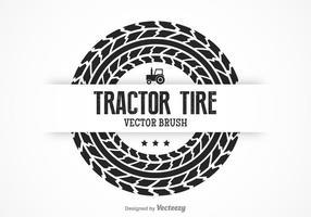 Gratis traktor däck vektor borste