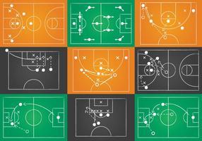 Sport playbook vektor uppsättning