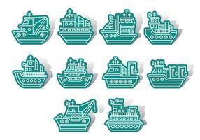 Tugboat ikoner vektor