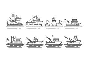 Gratis Tugboat Vector