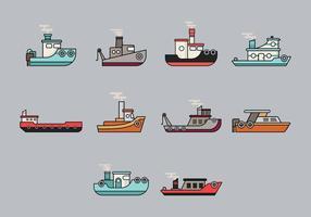Bogserbåt Ikon vektor