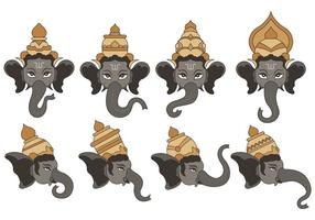 Set von Ganesh Vektor