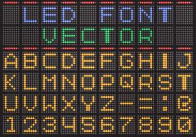 Led skärm vektor teckensnitt