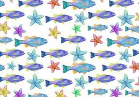 Free Vector Aquarell Bass Fisch Hintergrund
