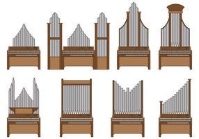 Set von Pfeifen Orgel Vektor