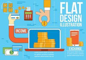 Freie flache Design-Vektor-Icons