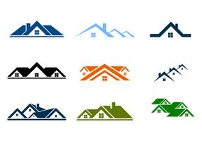 Gratis takterrasser Logo Vector