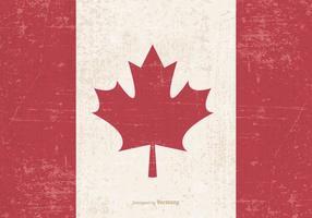 Gammal Grunge Flagga av Kanada vektor