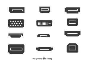 Multimedia port samling vektor