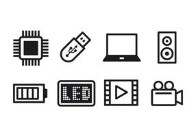 Freie Technologie Icon Set