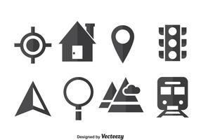 Karte Legende Icons Vektor