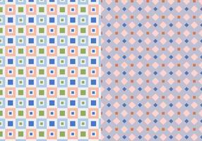 Två uppsättning geometriska mönster