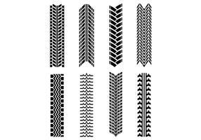 Set av traktordäckvektor vektor