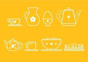 Kostenlose Frühstücksvektoren vektor