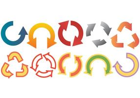 Freier Kreisverkehr Icons Vektor