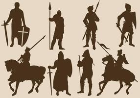 Templar silhuetter vektor