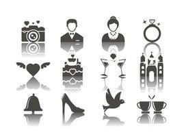 Kostenlose Hochzeit Icons Vektor