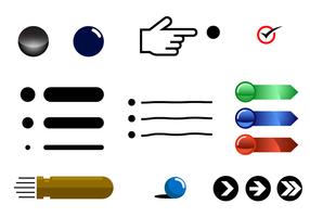 Gratis Bullet Points Vector