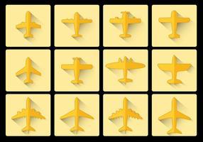 Avion Flygplan ikon platt design vektor