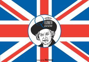 Fri Drottning Elizabeth Vektor Illustration