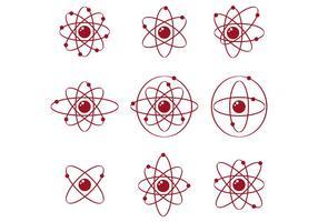 Set von Atomium Vektor