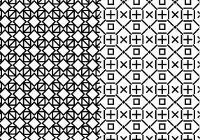 Svart vitt geometriskt mönster vektor