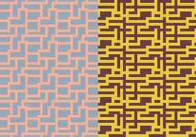 Labyrint geometriskt mönster vektor