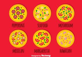 Pizza insamlings vektor