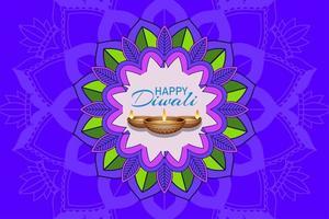 lila Diwali Festival Hintergrund vektor