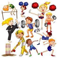 Menschen, die verschiedene Sportarten betreiben