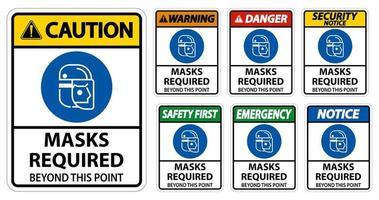 Schild mit der Aufschrift Gesichtsschutz ist erforderlich vektor