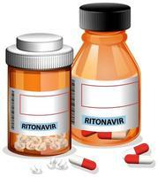 Ritonavir Pillen in Flaschen vektor