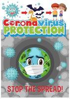 '' stoppa spridningen '' coronavirus vektor
